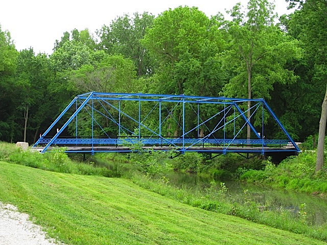 The Blue Bridge in Carroll County Indiana
