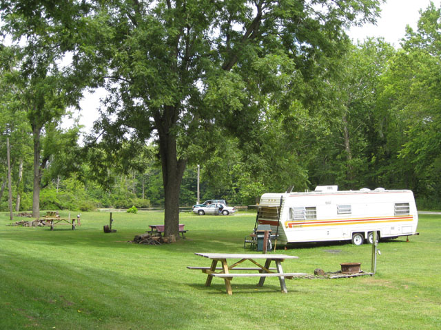 RV at Deer Creek Park in Carroll County Indiana