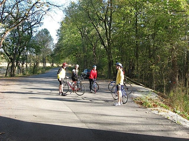 Biking at Adams Mill Oxbow in Carroll County Indiana