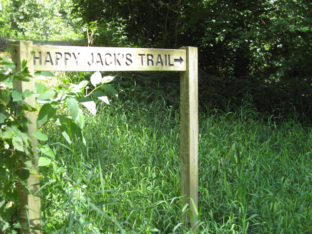 Happy Jack's Trail in Carroll County Indiana on SR25