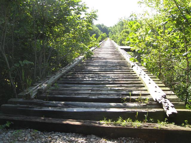 High Bridge in East Delphi in Carroll County Indiana