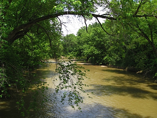 River by Trailhead Park in Carroll County Indiana