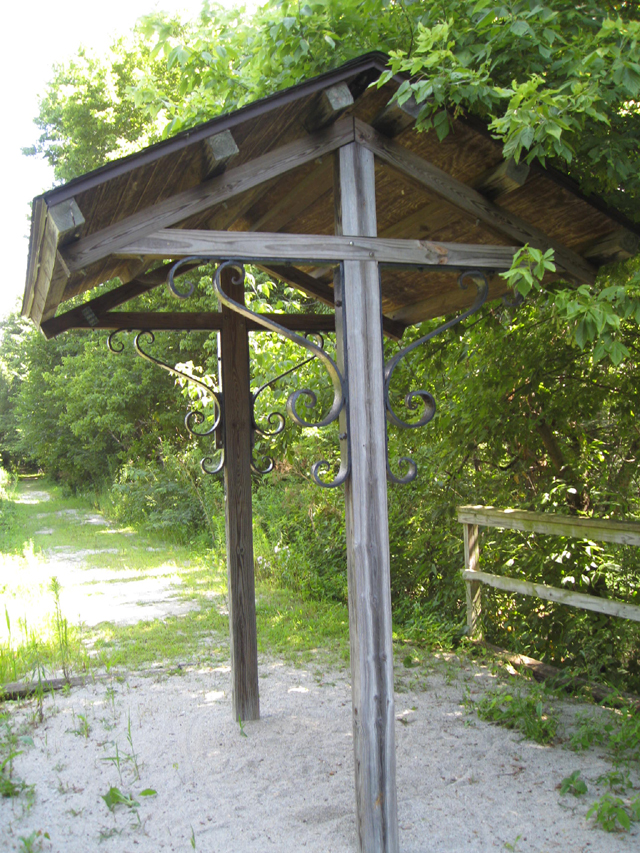 Interurban Trail rest and rain shelter in Carroll County Indiana