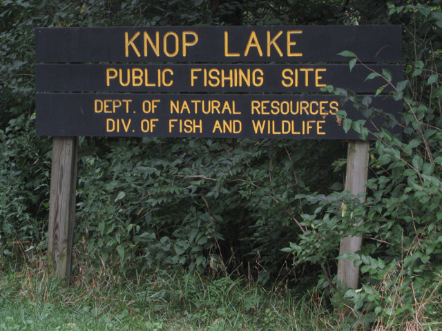 Knop Lake Sign in Carroll County Indiana