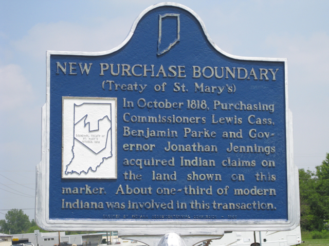 New Purchase Boundary (Treaty of St. Mary's) in Carroll County Indiana