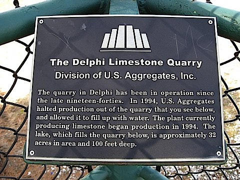 Limestone Quarry Sign at George Obear Park