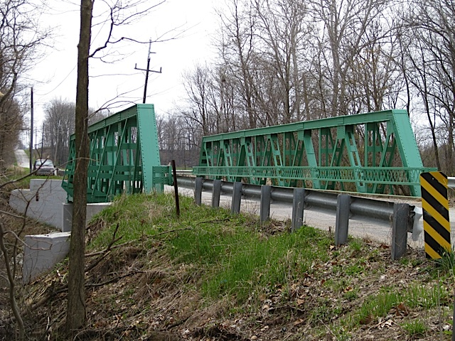 Warren Pony Truss over Deer Creek in Carroll County Indiana