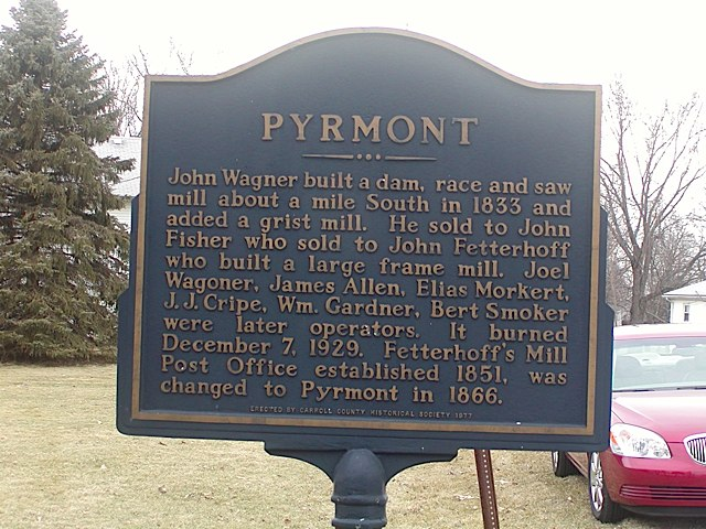 Pyrmont Historical Marker in Carroll County Indiana