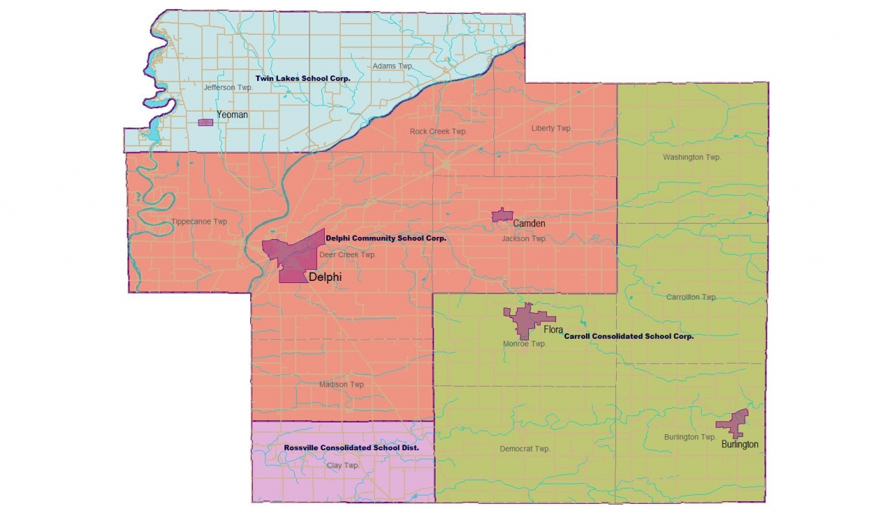 Carroll County School Districts Map