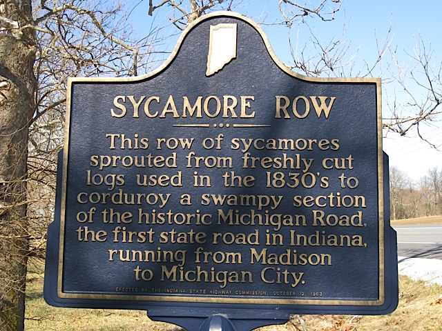 Sycamore Row Historical Marker in Carroll County Indiana