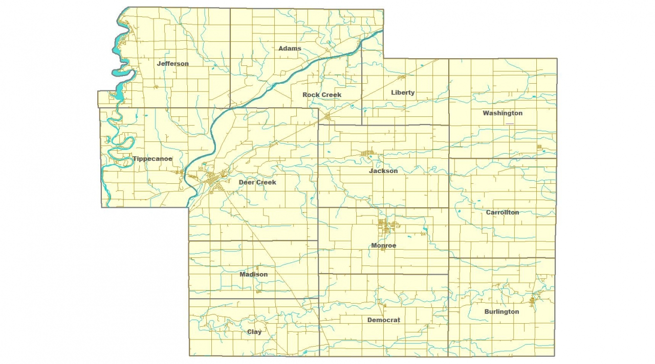 Carroll County Townships