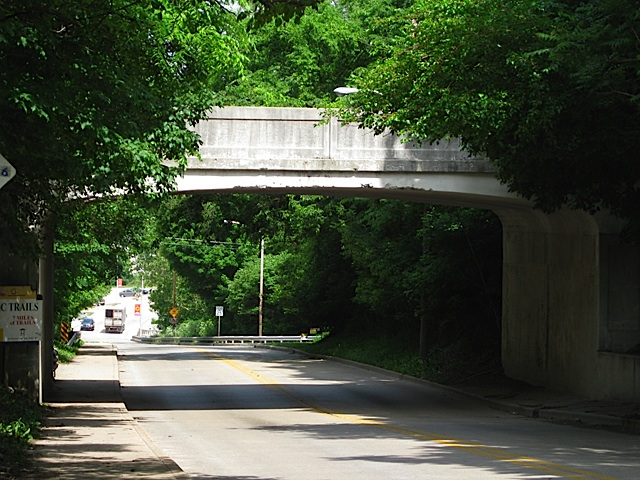 North Street Viaduct over U. S. Highway 421 in Carroll County Indiana
