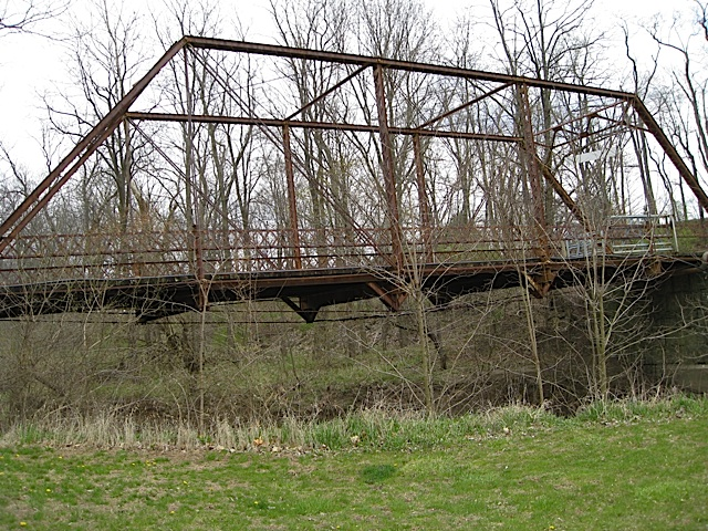 Pratt through-truss structure Bridge in Carroll County Indiana