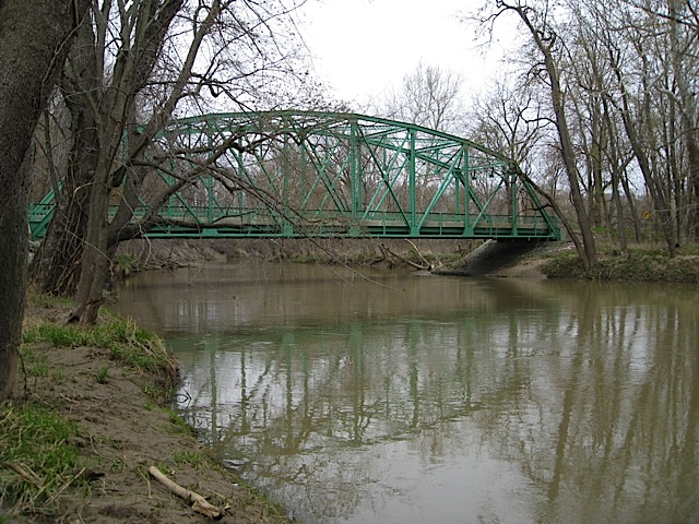 Xenia Bridge over Wildcat Creek in Carroll County Indiana