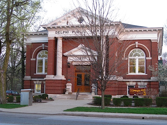 Delphi Public Library in Carroll County Indiana