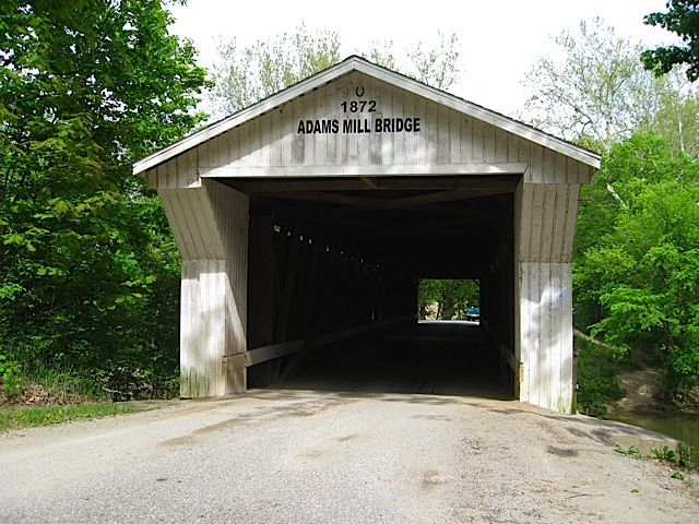 Adams Mill Bridge in Carroll County Indiana