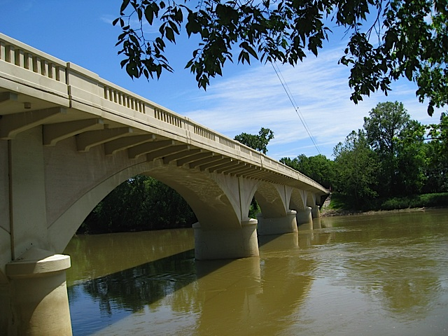 1927 Carrollton Bridge over the Wabash River in Carroll County Indiana