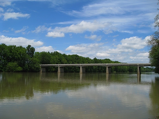 Lockport Bridge over the Wabash River in Carroll County Indiana