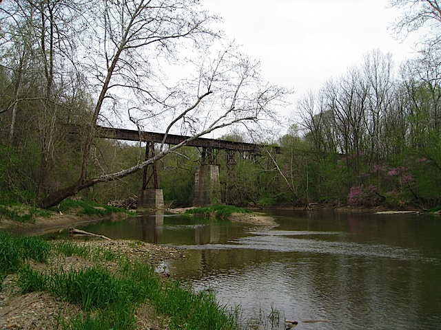 Monon High Bridge over Deer Creek in Carroll County Indiana