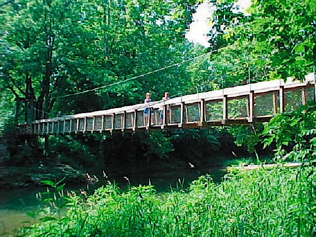 Riley Suspension Bridge in Carroll County Indiana