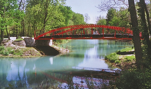 The Red Bridge in Carroll County Indiana