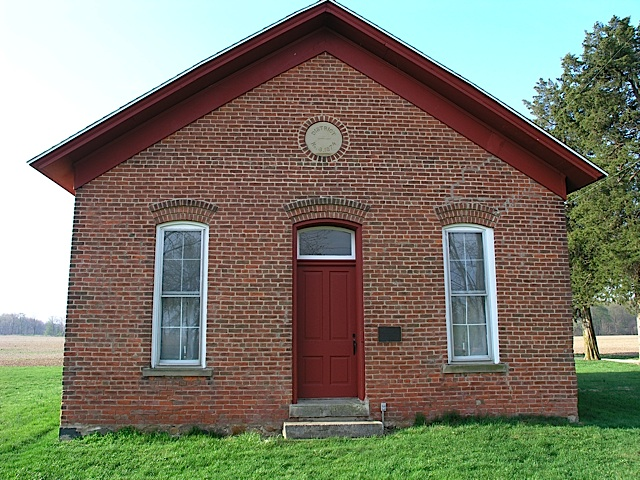 Martin Schoolhouse Front in Carroll County