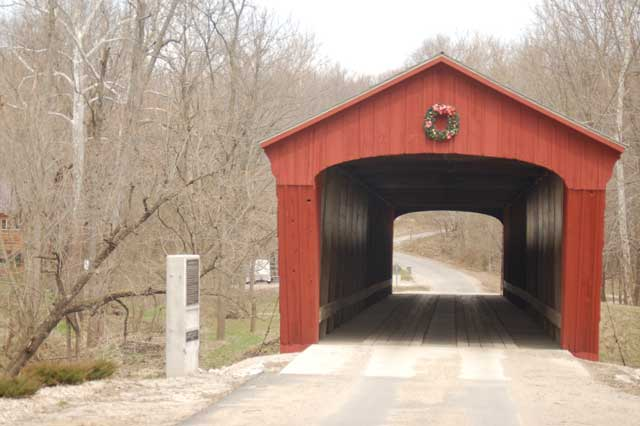 Lancaster Covered Bridge in Carroll County Indiana